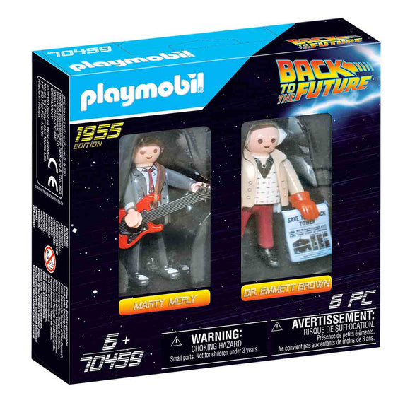 Playmobil Regreso Al Futuro Figuras Marty Mcfly Y Dr. Emmett Brown - 70459
