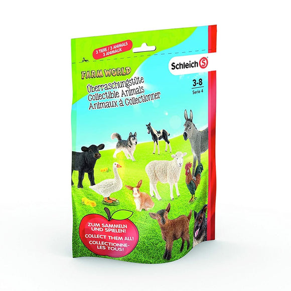 Schleich Farm World Sobres Sorpresa Animales Coleccionable Pack 3