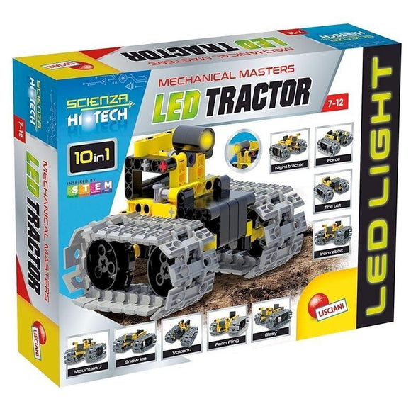 Kit Construccion Hi Tech 10 En 1 Tractor Led