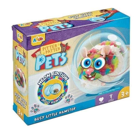 Pitter Patter Pets Hamster De Colores Con Bola