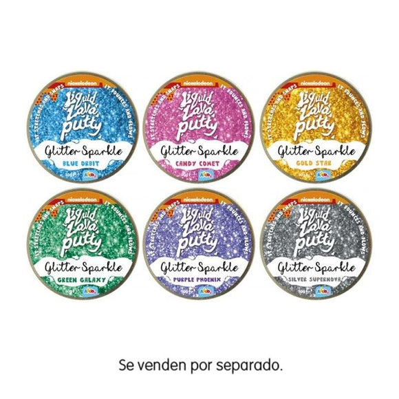 Liquid Lava Putty Glitter Colores Surtidos