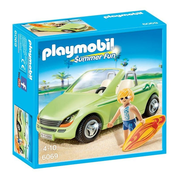 Playmobil Summer Fun Surfista Con Descapotable