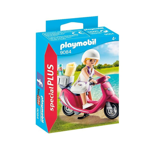 Playmobil Special Plus Mujer Con Scooter