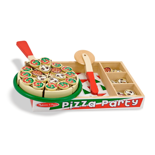 Pizza Party Set De Madera 63 Piezas.