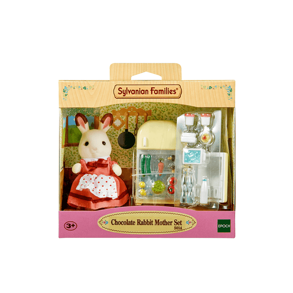 Sylvanian Set Mamá Coneja Chocolate Con Nevera