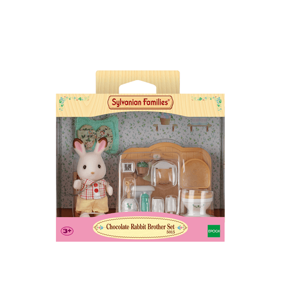 Sylvanian Set Hermano Conejo Chocolate (Baño)