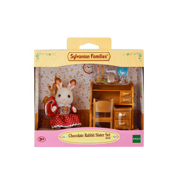 Sylvanian Set Hermana Coneja Chocolate Escritorio