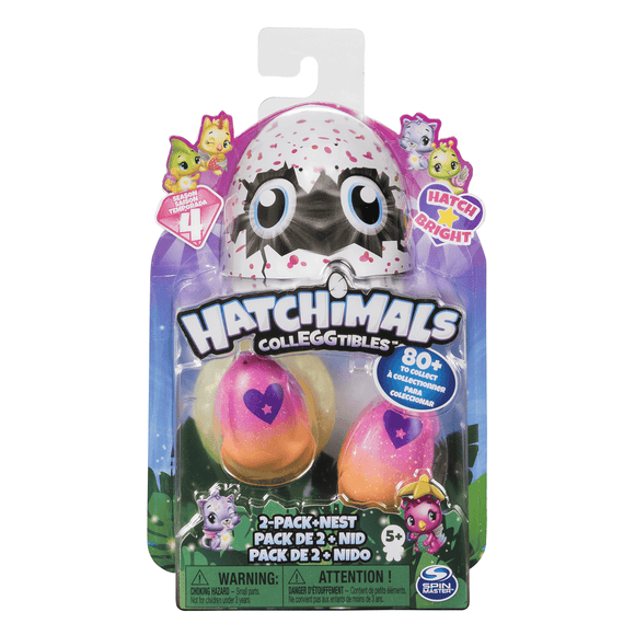 Hatchimals Coleccionables S4 Pack De 2 + Nido