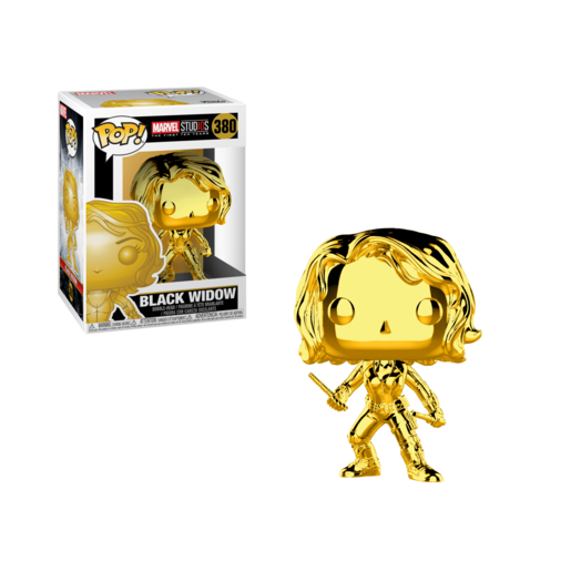 Funko Pop Marvel Viuda Negra Chrome