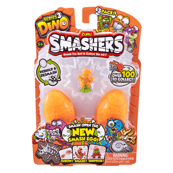 Smashers Smash Ball Series 3 Dino Pack De 3