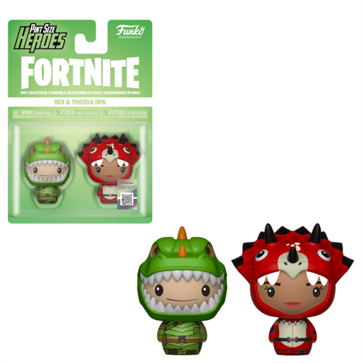 Funko Pop Fortnite Pack 2 Figuras Rex Y Triceratops