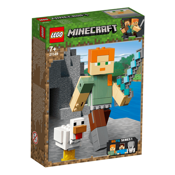 Lego Minecraft Alex Con Gallina