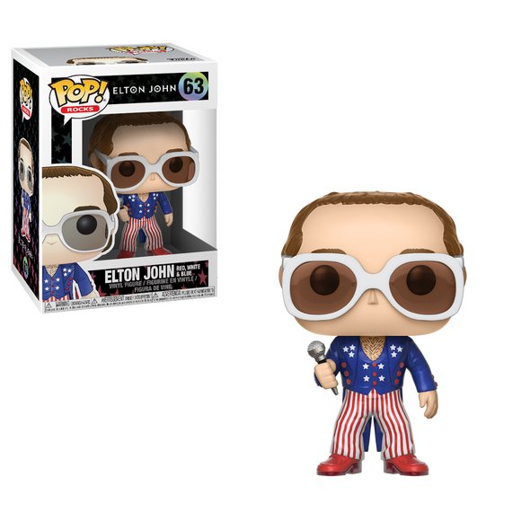 Funko Pop Elton John Red & Blue