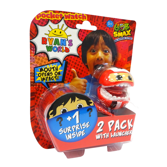 Ryan'S World Gobsmax Pack De 2 Con Lanzador