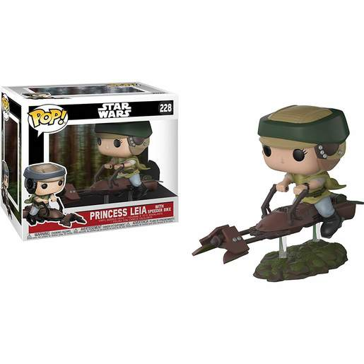 Funko Pop Star Wars Leia Con Speeder Bike