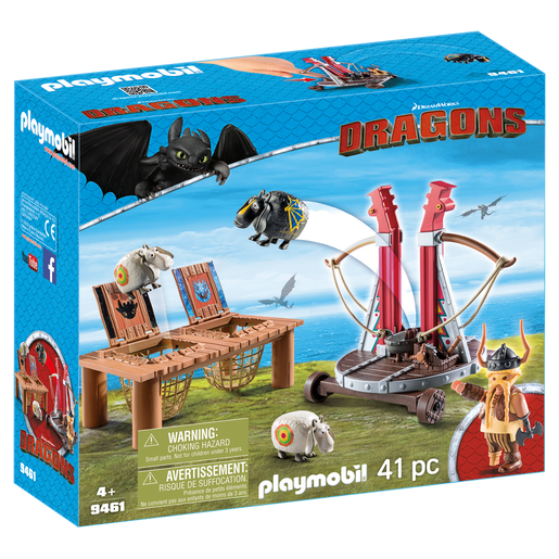 Playmobil Dragons Bocon Con Lanzadera Ovejas