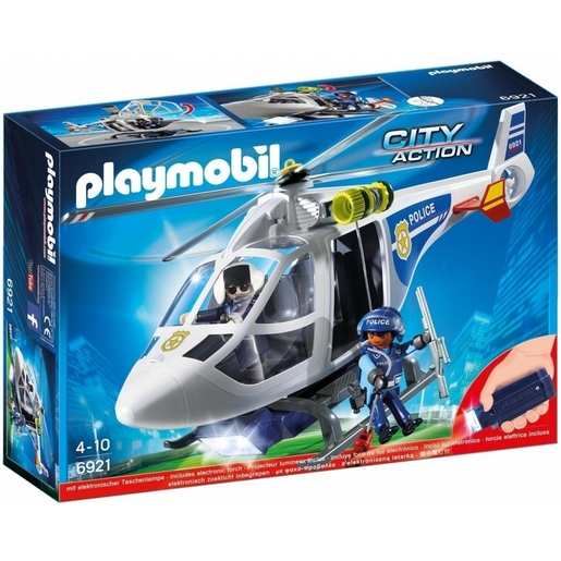 Playmobil City Action Helicóptero De Policía Con Luces Led