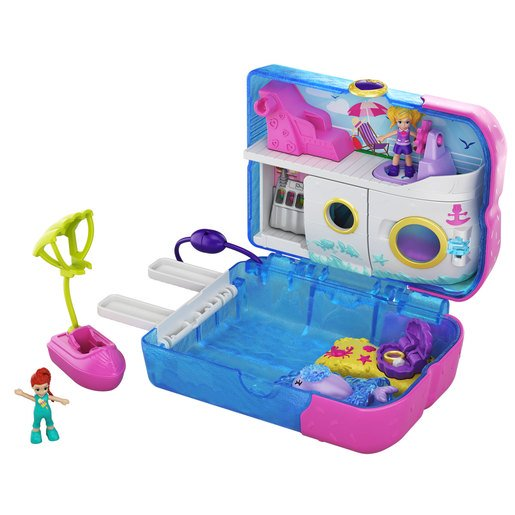 Polly Pocket Cofre Crucero Sweet Sails Con Mini Muñecas