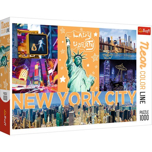 Trefl Puzzle Neón New York City De 1000 Piezas
