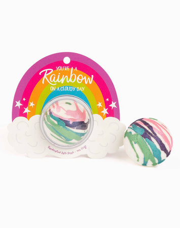 Rainbow On Cloudy Day Clamshell Bath Bomb