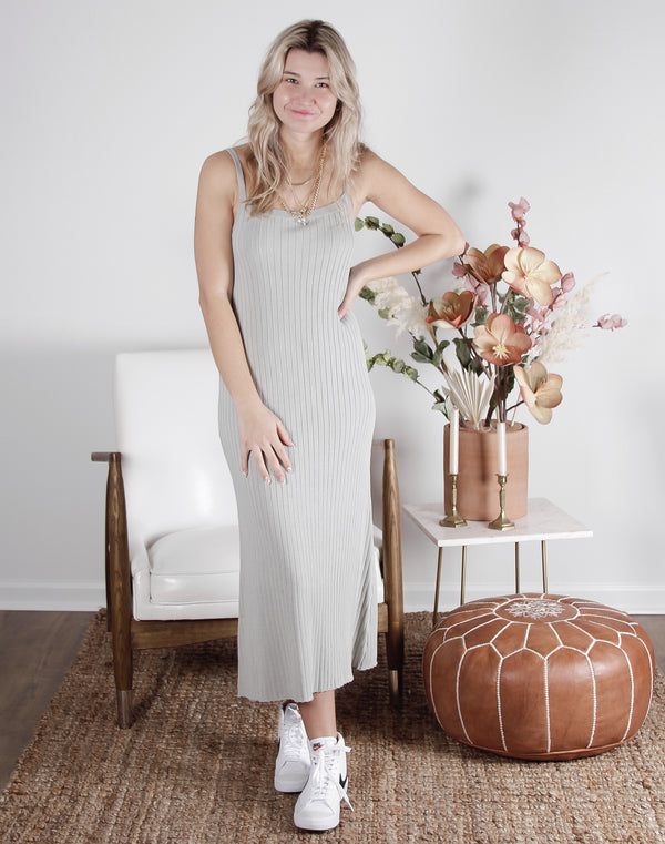 Nellie Cami Ribbed Sweater Maxi Dress