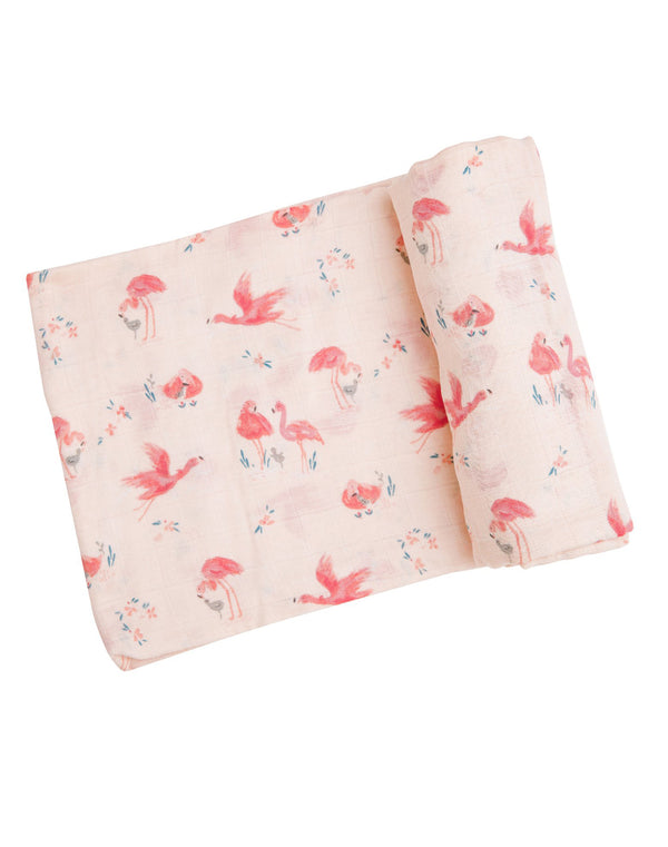 Flamingo Swaddle Blanket
