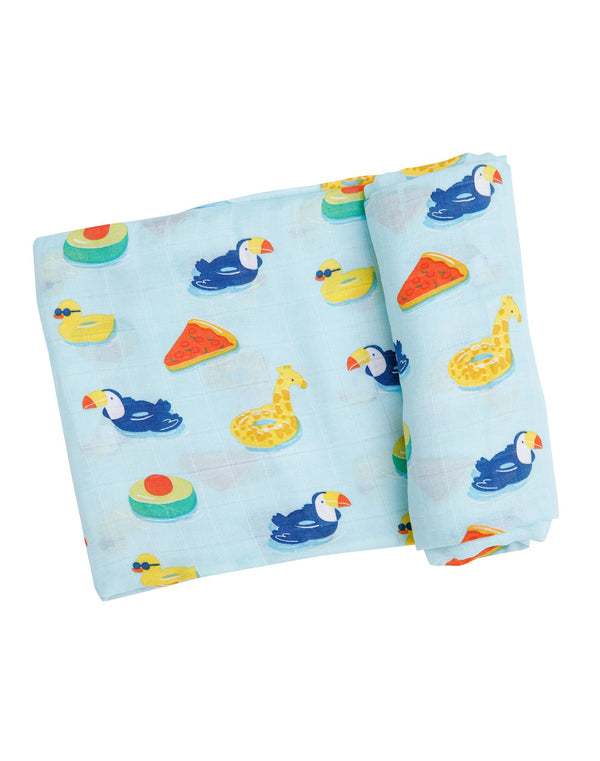 Floaties Swaddle Blanket Blue