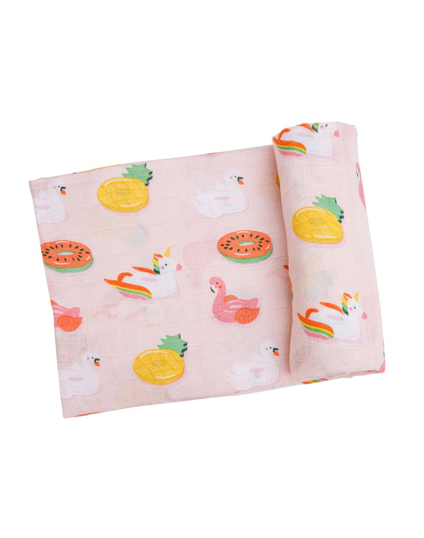 Floaties Swaddle Blanket Pink