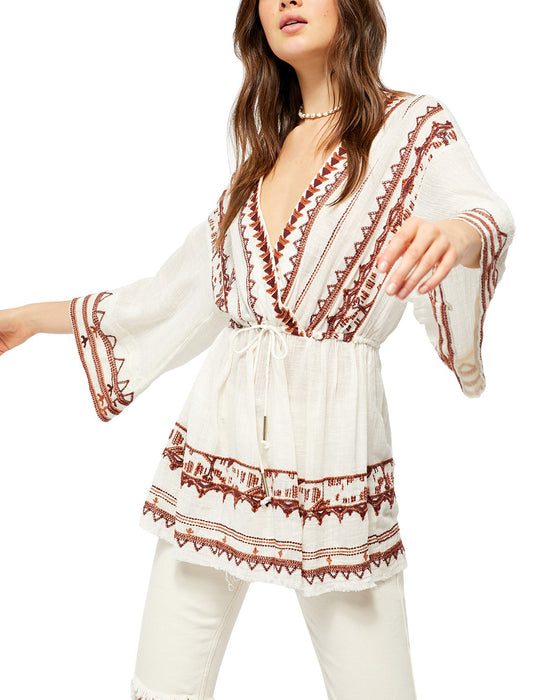 Saffron Embroidered Tunic