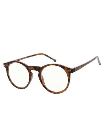 Blue Light Circle Frames - Dark Tortoise