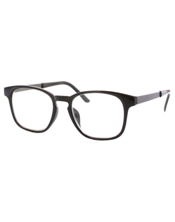 Blue Light Square Frames - Black