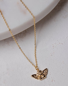 Angel Pendant Necklace- Gold