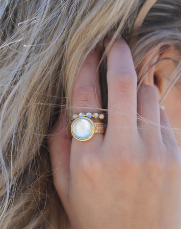 Mother of Pearl Multi Stone Ring