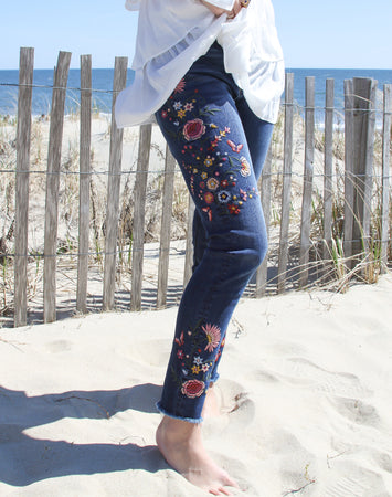 Jackie Fantasy Butterfly Floral Skinny Jean