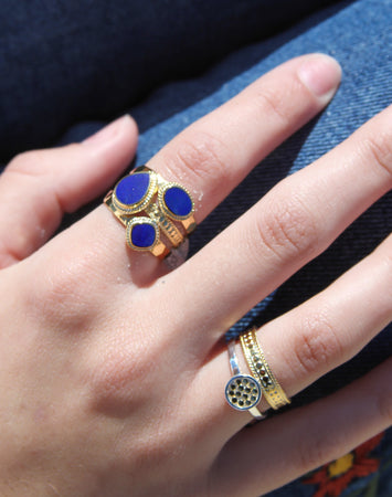 Lapis Faux Stacking Ring