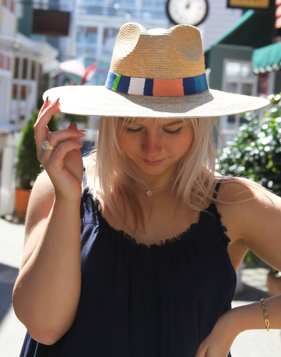 Albertina Striped Sun Hat - S/M