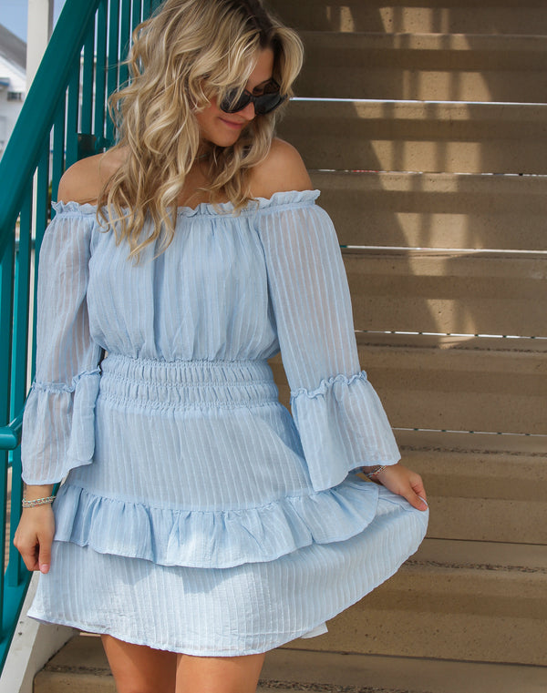 Belle Off Shoulder Ruffle Dress