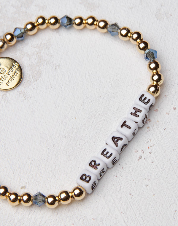 Breathe Gold Filled Letter Bracelet