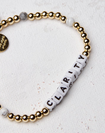 Clarity Gold Filled Stone Letter Bracelet