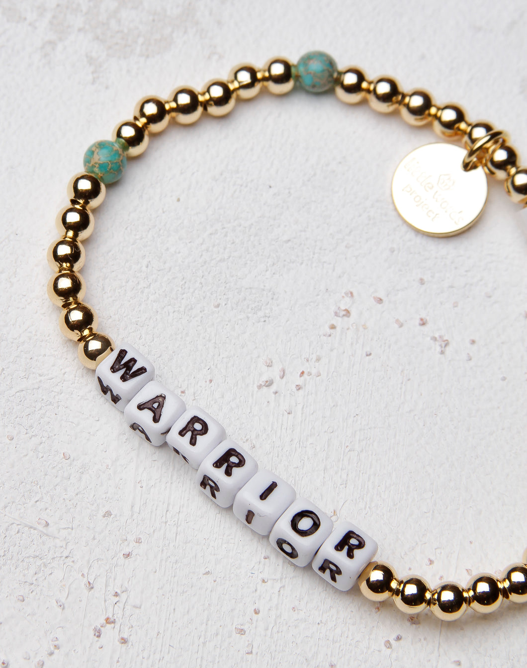 Warrior Gold Filled Stone Letter Bracelet
