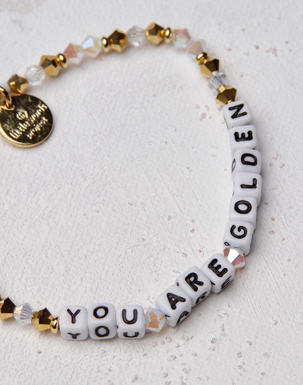 You Are Golden Letter Bracelet