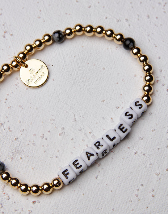 Fearless Gold Filled Stone Letter Bracelet