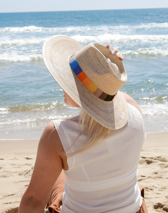 Rosita Striped Sun Hat - S/M