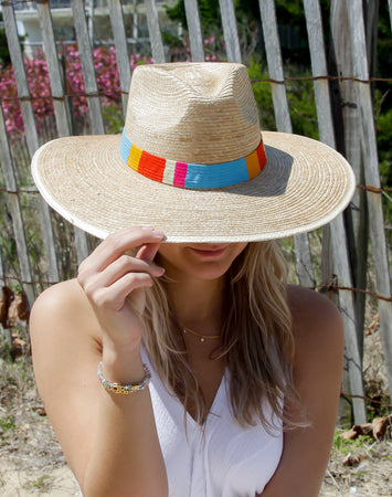 Sandra  Striped Sun Hat - S/M