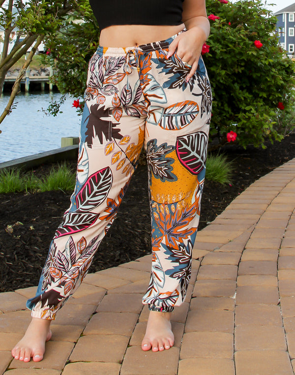 Blake Tropical Drawstring Joggers