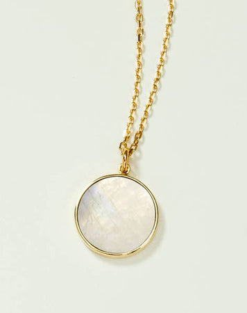Moonstone Medallion Necklace