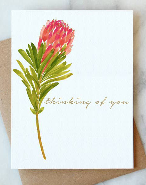 Protea Thinking of You Card