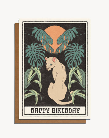 Happy Birthday Jungle Cat Card