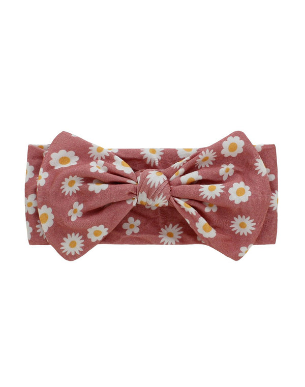 Rose Daisy Bamboo Headband
