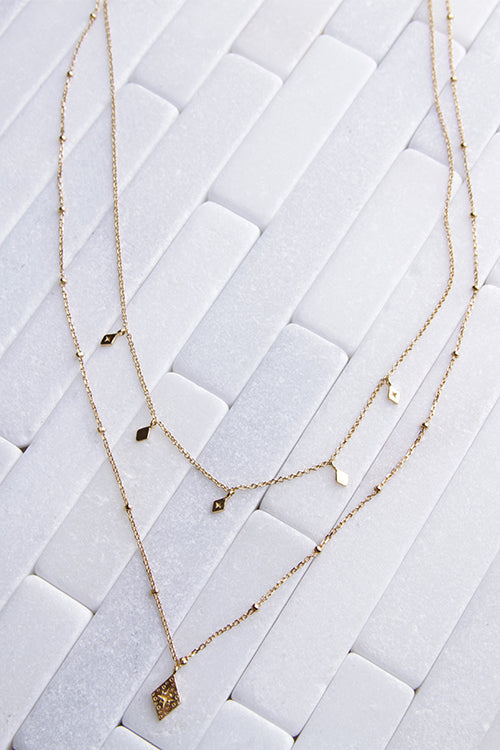 Layered North Star Necklace
